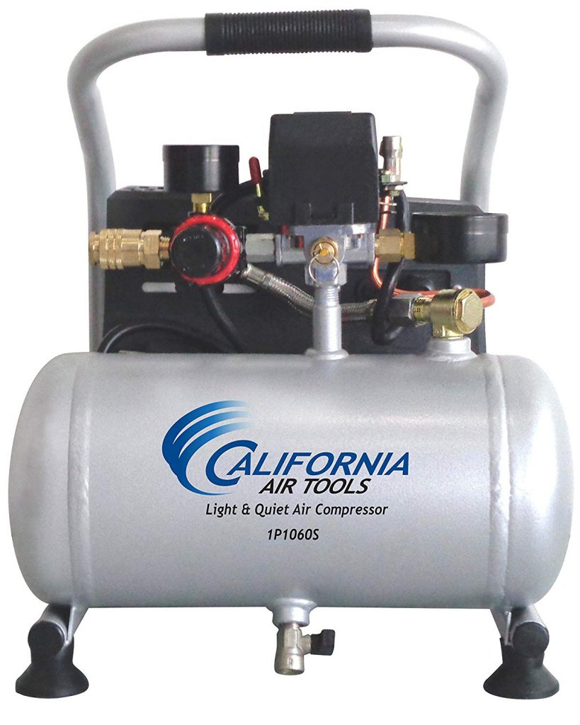 The CAT-1P1060S Light & Quiet Portable Air Compressor from California Air Tools