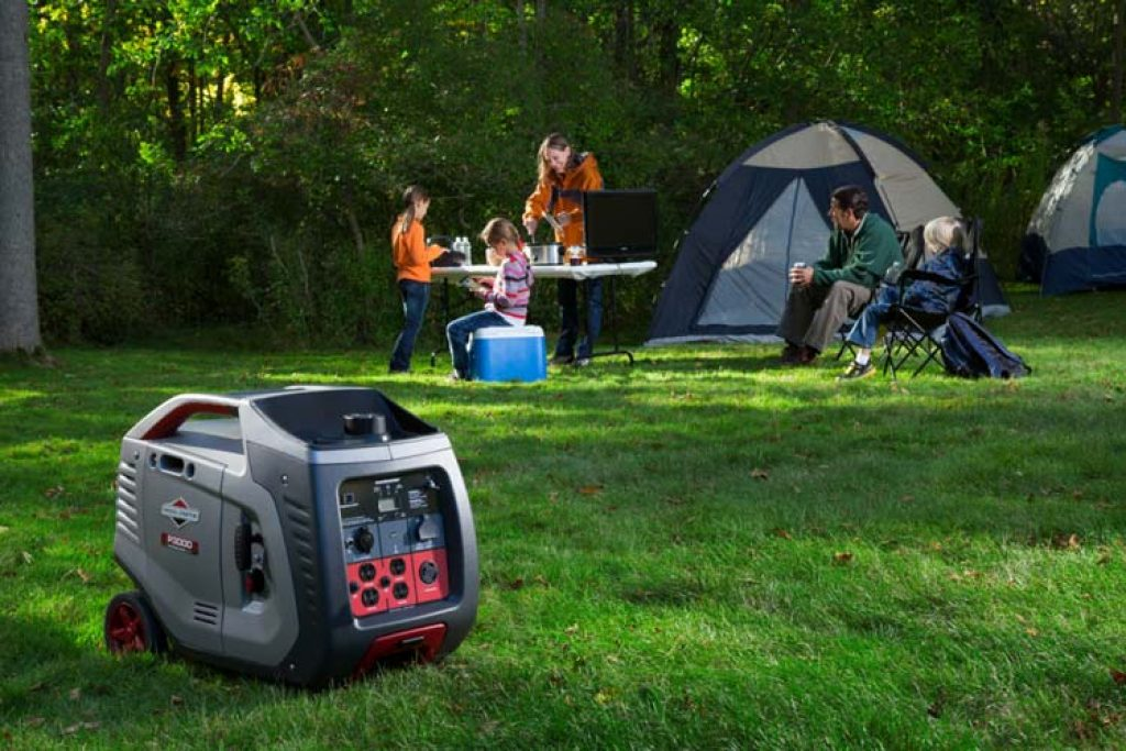 placing the generator a good distance from your sleeping tents