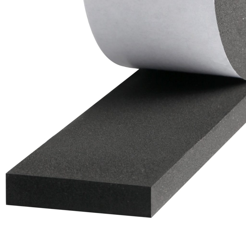 Soundproof adhesive weatherstripping