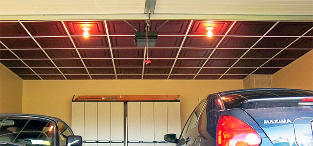 Use Panels On The Garage Ceiling